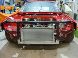 Alfa 33 Aluminium Radiator and Oil Cooler Mounted