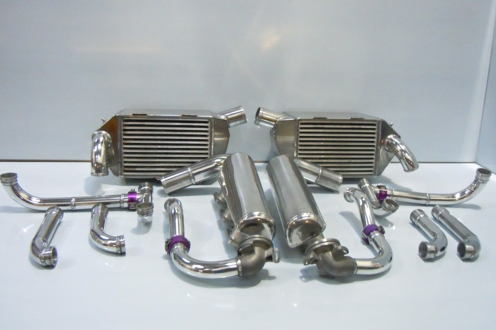 Porsche 962 Intercoolers, water pipework, radiator upgrade and plenum completion.