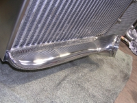 Intercooler - shaped end tanks with Wiggins Ferrules