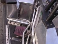 Water radiator cooling intake charge