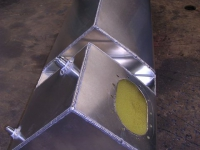 Side pod fuel tank