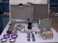 Intercooler, radiator, water swirl pot, oil cooler, pipework and Wiggings Clamps