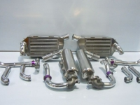 Porsche 962 Intercoolers, connect plenums, water pipes.
