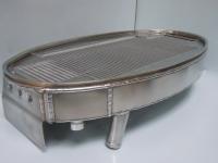 Aluminium oOval aluminium oil cooler and water radiator