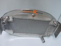 Oval aluminium oil cooler and water radiator