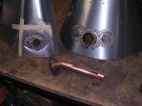 Copper oil pipe return