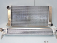 CHEVRON RADIATOR & OIL COOLER - CAN BE SEPARATED BY BRACKETS