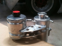 Water header tank and oil catch tank