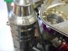 Bike engined hill climb car oil breather tank