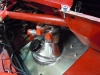 Alfa 33 dry sump tank - fitted through bulk head into foot well.