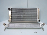 Oil cooler and radiator combination