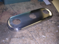 Porsche base plate after finishing
