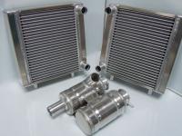 Elva radiators and header / swirl tanks
