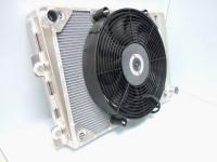Gordon Keeble Radiator with fan mounted