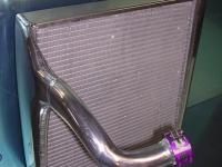 F1 radiator – flowed end tanks to increase efficiency