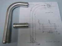 Pipework to customer drawing