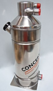 OT01 Vortex Dry Sump Oil Tank – Narrow body (145 mm diameter) – 1 Gallon