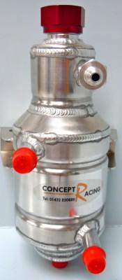 Water cooled power steering fluid tank