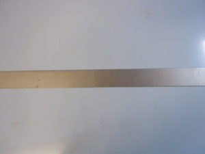 Stainless steel for fuel tank straps.
