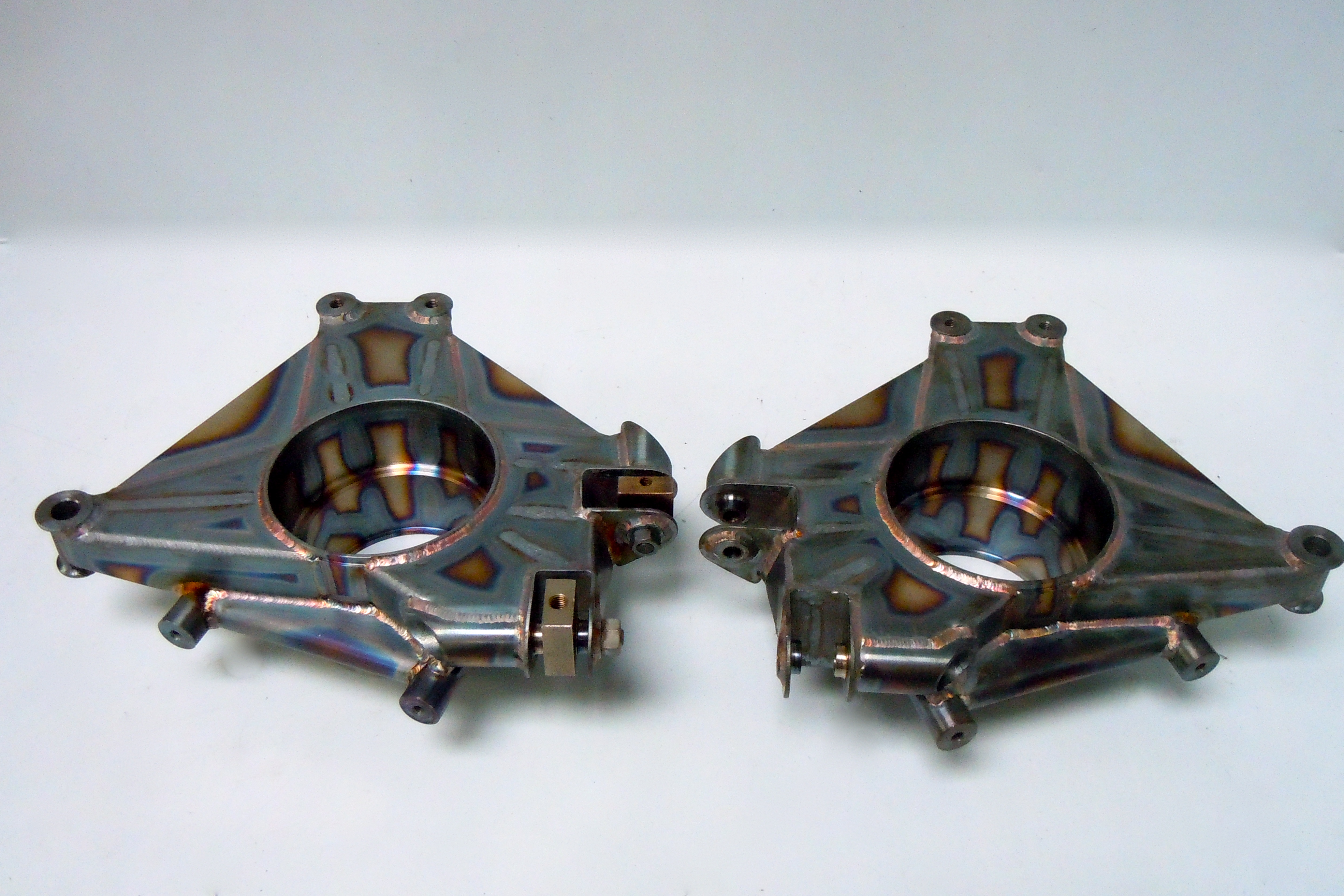 Uprights - Fabricated by TKD Engineering, welded by Concept Racing