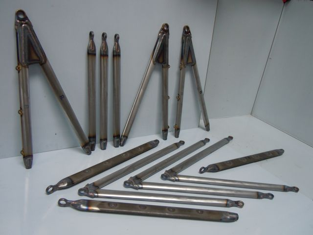 Wishbones, push rods and toes links