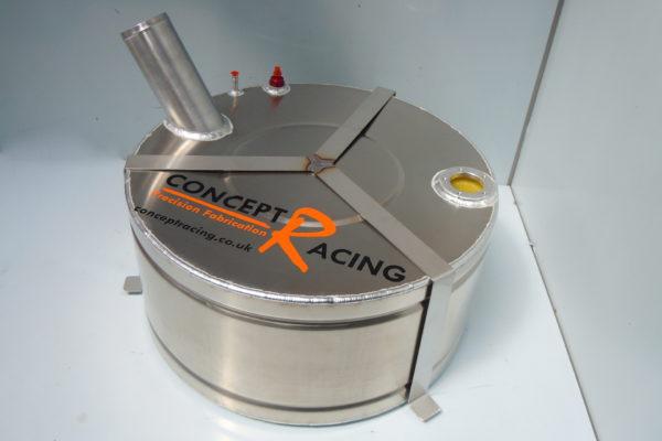 Mini fuel tank external filler